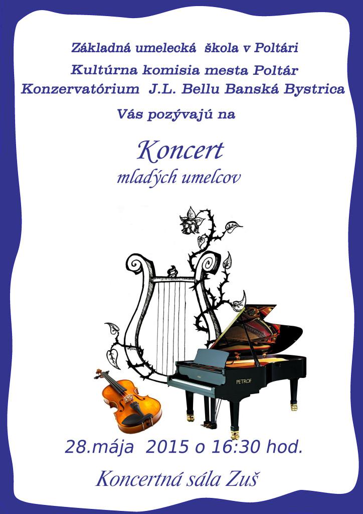 koncert mladých umelcov 2015