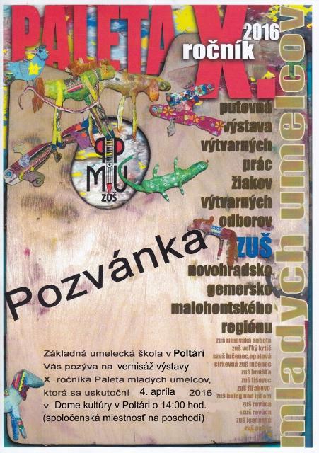 Plagát Paleta mladých umelcov